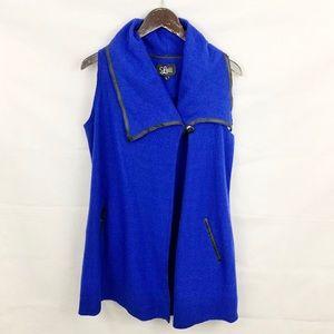 Luii Anthropologie Blue Wool Poncho Shawl Sweater